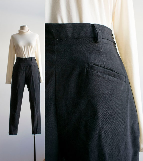 Vintage Gap Riding Pants / Black Riding Pants / 19