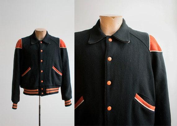 1950s 1960s Wool Letterman Jacket / True Vintage H