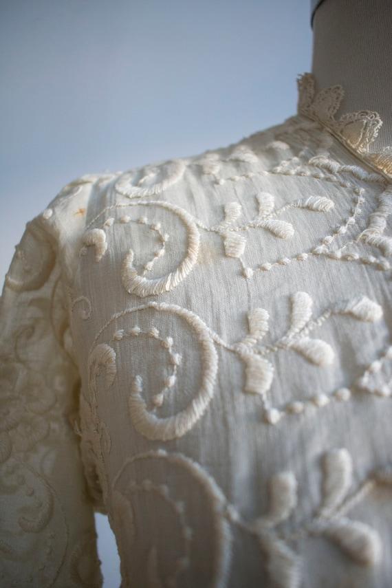 Antique 2pc Outfit / Edwardian Lawn Outfit / Embr… - image 5