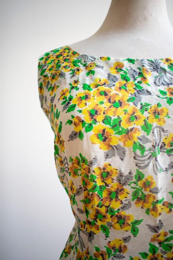 Vintage Linen Floral Blouse / 1930s Feed Sack Blo… - image 7