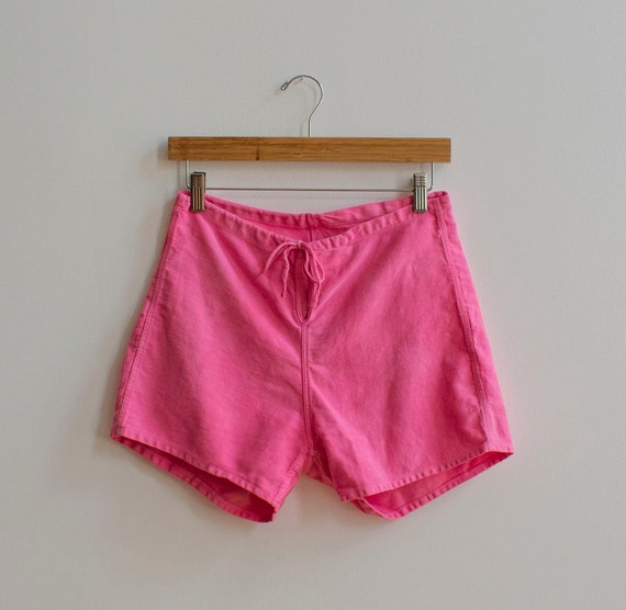 Vintage 1950s Cotton Gym Shorts / Linen Summer Cot