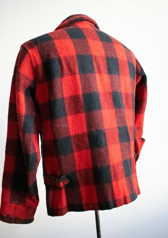 Vintage 1940s Woolrich Jacket / Vintage Wool Buff… - image 8