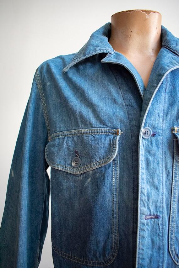 Vintage 1970s Lee Denim Shirt / Denim Lee Jacket … - image 3
