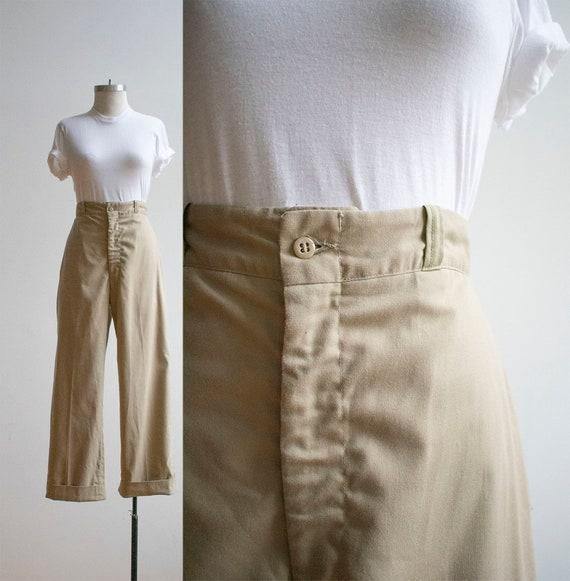 Vintage Tan Military Slacks / Vintage Military Pan