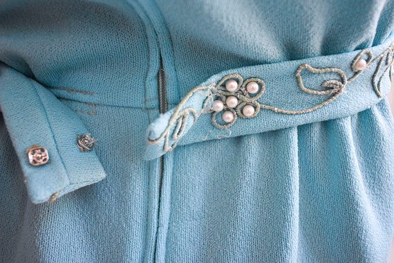 1970s Pale Blue Mini Dress - image 10
