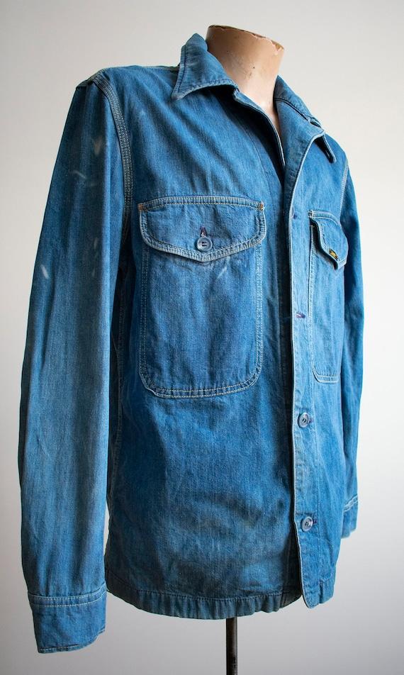 Vintage 1970s Lee Denim Shirt / Denim Lee Jacket … - image 4