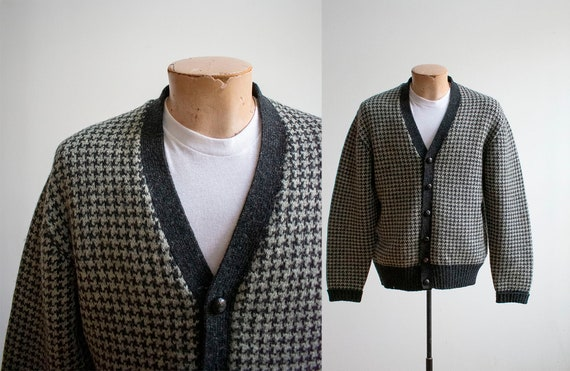 Vintage 1960s Cardigan Sweater / Vintage Brooks Br