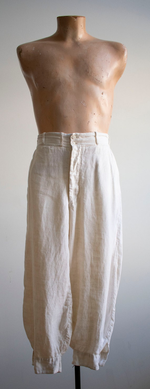 Antique White Linen Knickers / True Vintage Britc… - image 2