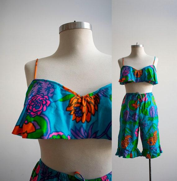 Vintage 1960s Playsuit / Vintage 2pc Bathing Suit