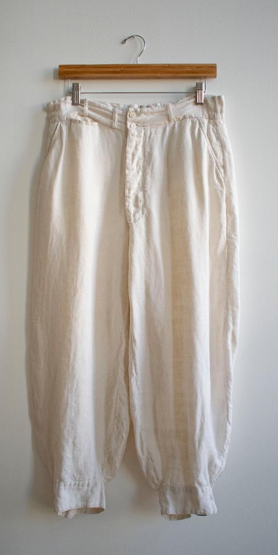 Antique White Linen Knickers / True Vintage Britc… - image 8