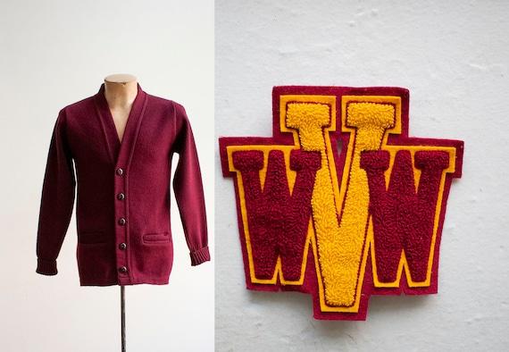 Vintage Letterman Sweater / Vintage Varsity Cardig