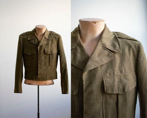 Vintage 1950s US Military Jacket / Wool Ike Jacket