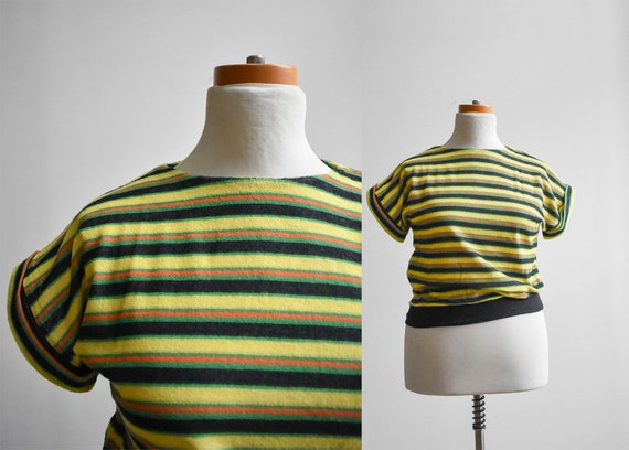 1970s Terrycloth Striped Tee