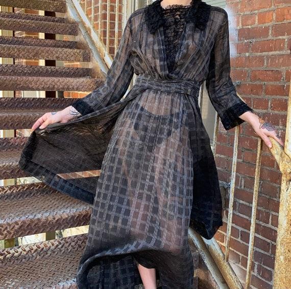 Black Edwardian Gown - image 1