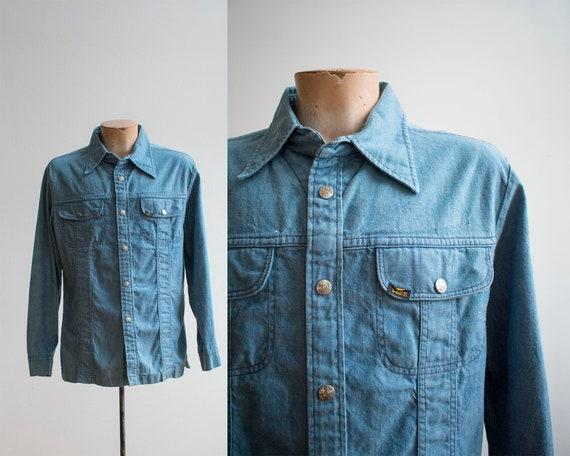 Vintage 1970s Lee Shirt / Vintage Lee Denim Jacket