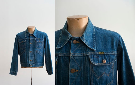 Vintage Denim Jacket / Vintage Wrangler Denim Jack