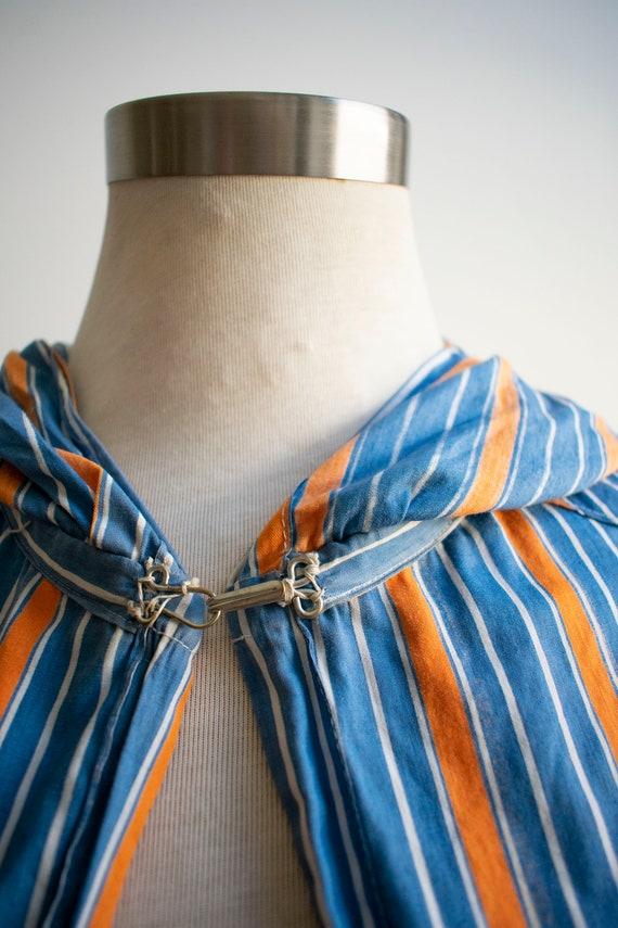 Vintage 1940s Cape / Long Striped Cape / Vintage … - image 10