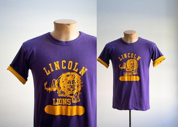 Vintage 1970s Lincoln Lions Tshirt / Vintage High