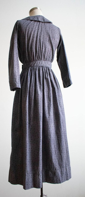 Vintage 1930s 1940s Farm Dress / Cotton Farm Dres… - image 10