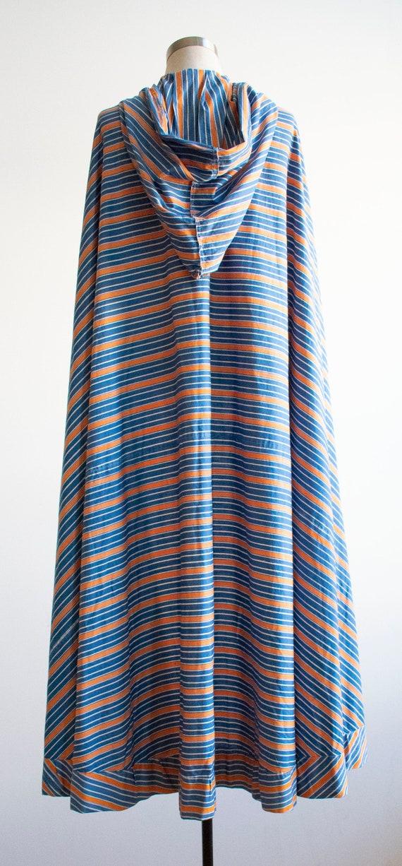 Vintage 1940s Cape / Long Striped Cape / Vintage … - image 9