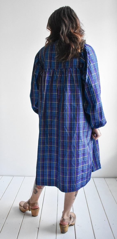 Vintage Plaid Smock Dress - image 10