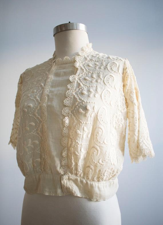 Antique 2pc Outfit / Edwardian Lawn Outfit / Embr… - image 4