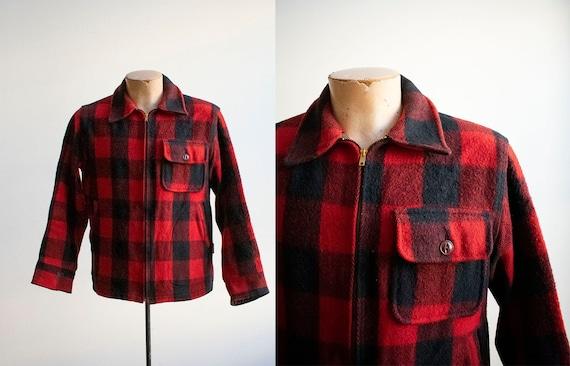 Vintage 1940s Woolrich Jacket / Vintage Wool Buff… - image 1