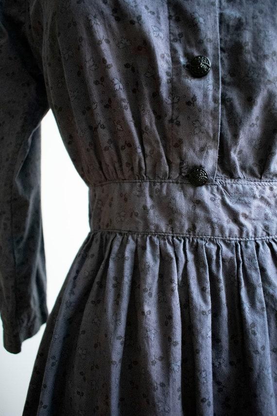 Vintage 1930s 1940s Farm Dress / Cotton Farm Dres… - image 5