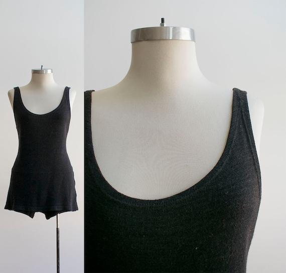 Vintage 1920s Wool Bathing Suit / Vintage Swimsui… - image 1