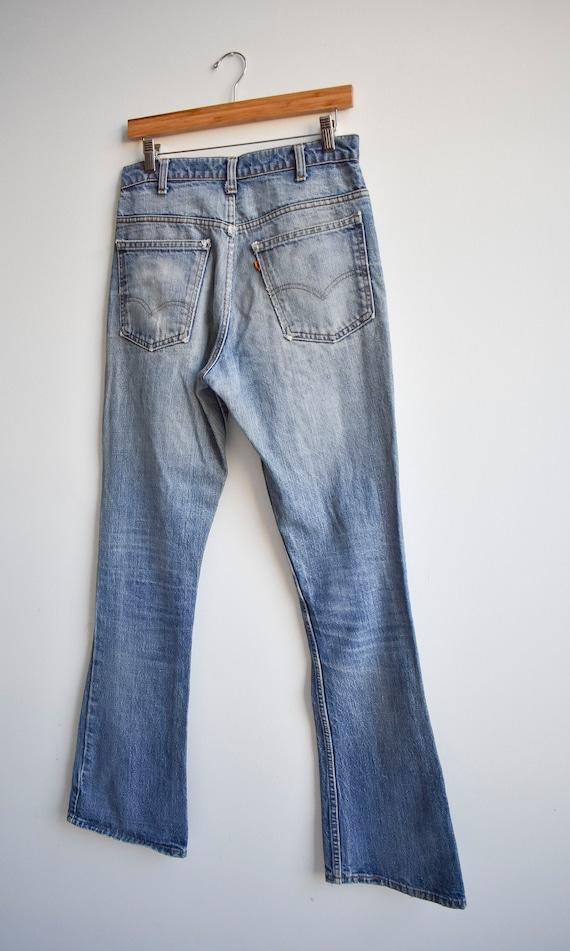 Vintage Levis Orange Tab Big E Bell Bottom Jeans - image 6