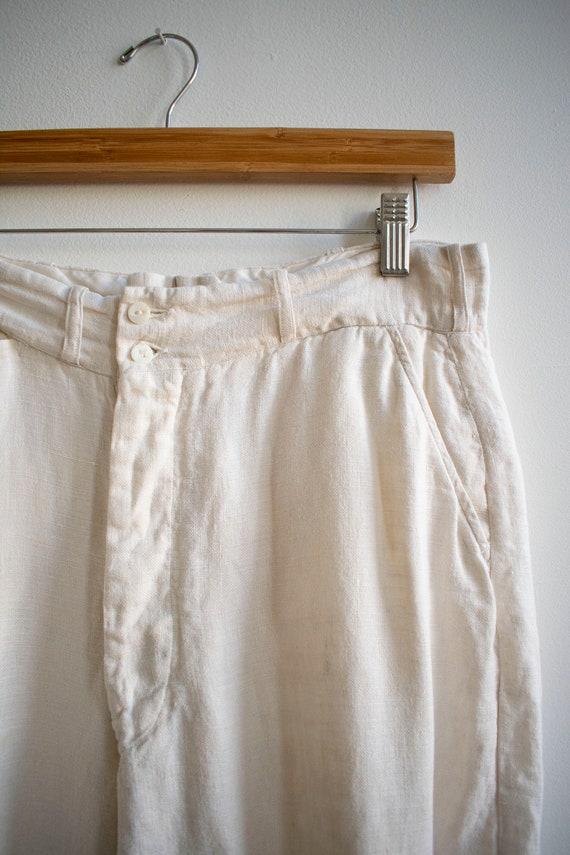 Antique White Linen Knickers / True Vintage Britc… - image 9