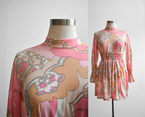 1970s Pucci Inspired Slip Dress