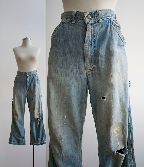 Vintage Lee Denim Carpenter Pants / Denim Carpente