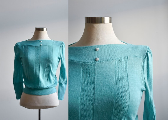 1970s Teal Sweater