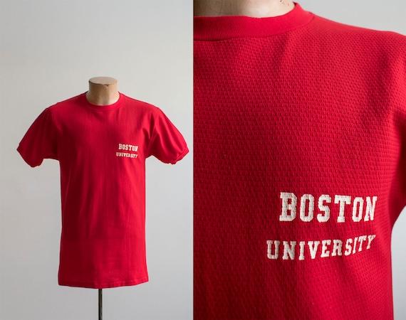 Vintage 60s Boston University Tshirt / Vintage Ath