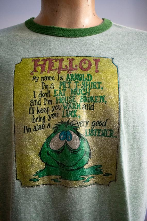 Vintage 1970s Ringer Tshirt / Green Ringer Tee / … - image 6