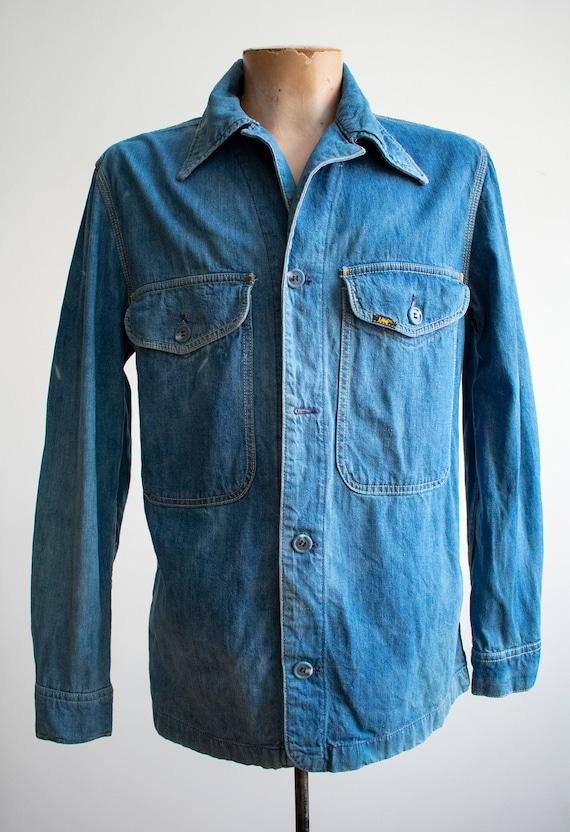 Vintage 1970s Lee Denim Shirt / Denim Lee Jacket … - image 2