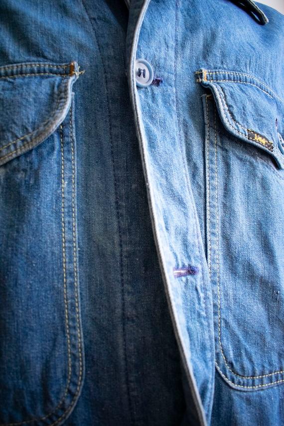 Vintage 1970s Lee Denim Shirt / Denim Lee Jacket … - image 9