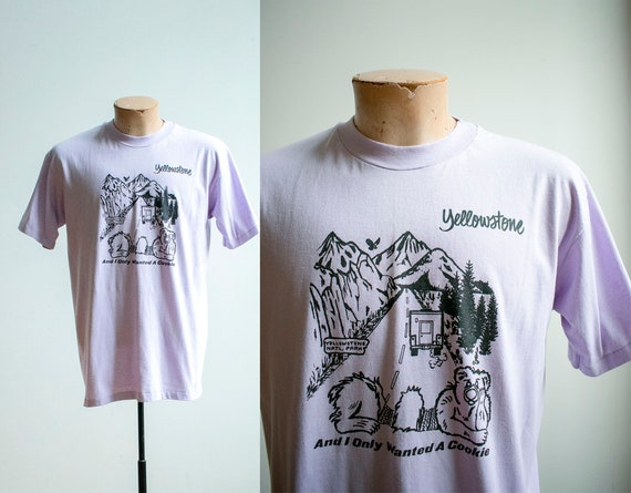 Vintage 1980s Yellowstone Tshirt / Vintage Yellows