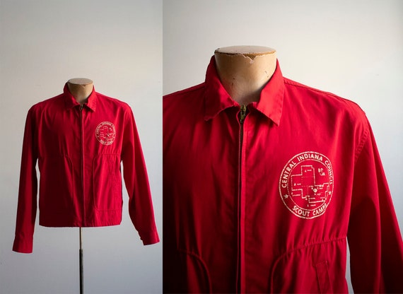 Vintage 1960s BSA Jacket / Vintage Red Boy Scouts