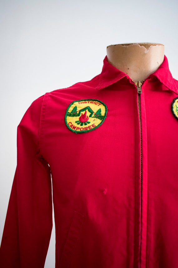 1950s Boy Scouts of America Jacket / Red Boy Scou… - image 3