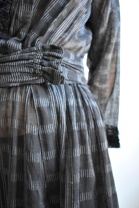 Black Edwardian Gown - image 4