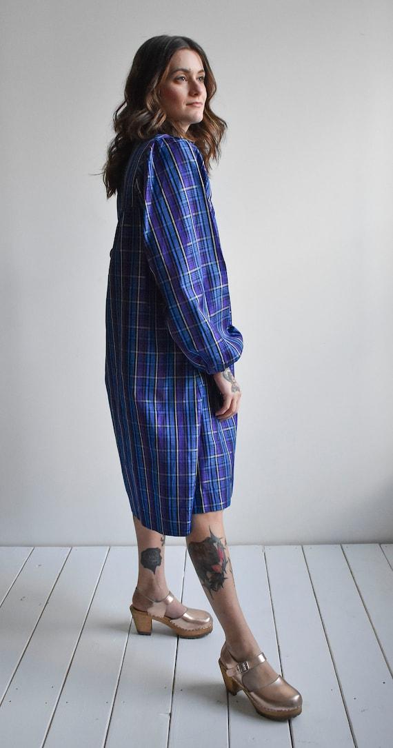 Vintage Plaid Smock Dress - image 9