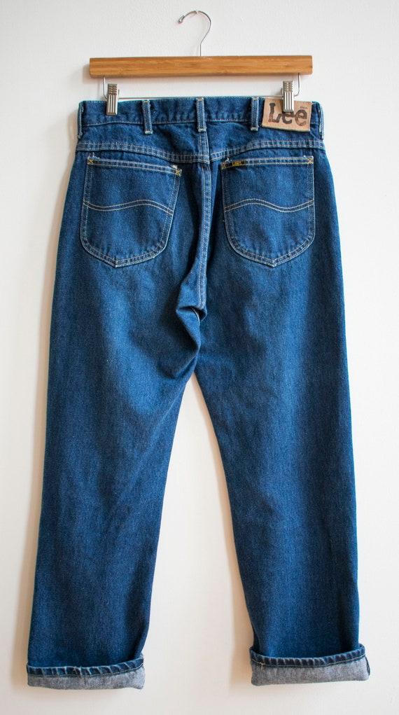 Vintage Lee Jeans / Dark Denim Lee Jeans / Vintag… - image 8