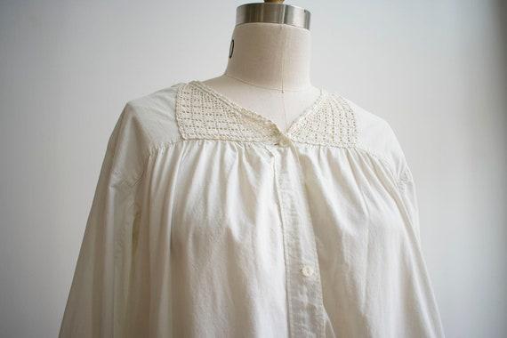 Vintage Edwardian Nightgown / White Cotton Nightg… - image 4