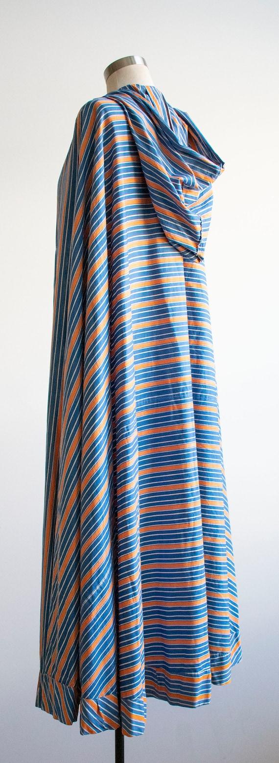 Vintage 1940s Cape / Long Striped Cape / Vintage … - image 8