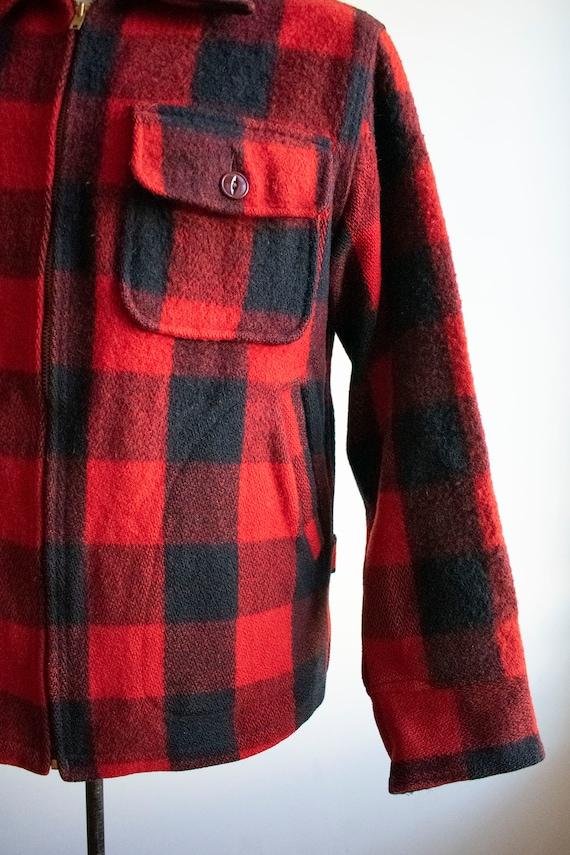 Vintage 1940s Woolrich Jacket / Vintage Wool Buff… - image 5