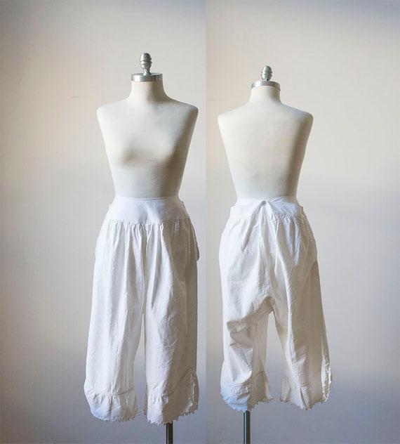 Vintage Bloomers / White Cotton Bloomers / Edwardi