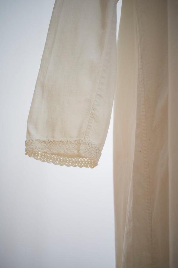 Vintage Edwardian Nightgown / White Cotton Nightg… - image 10