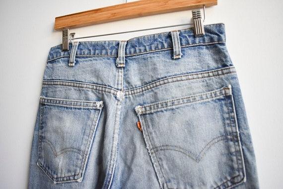 Vintage Levis Orange Tab Big E Bell Bottom Jeans - image 8